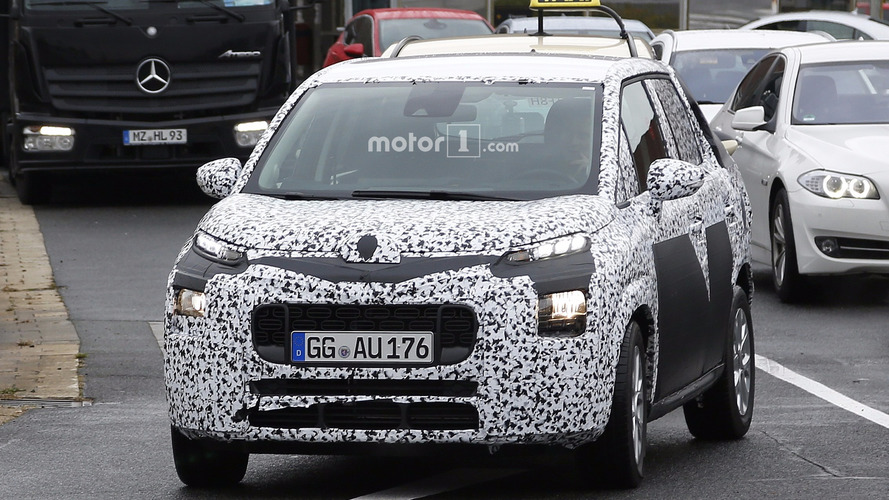 Nouvelle Citroën C3 Picasso photos espion