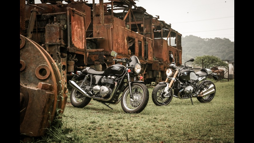 Cafe Racer: curtindo a onda retrô com Triumph Thruxton e BMW Nine T