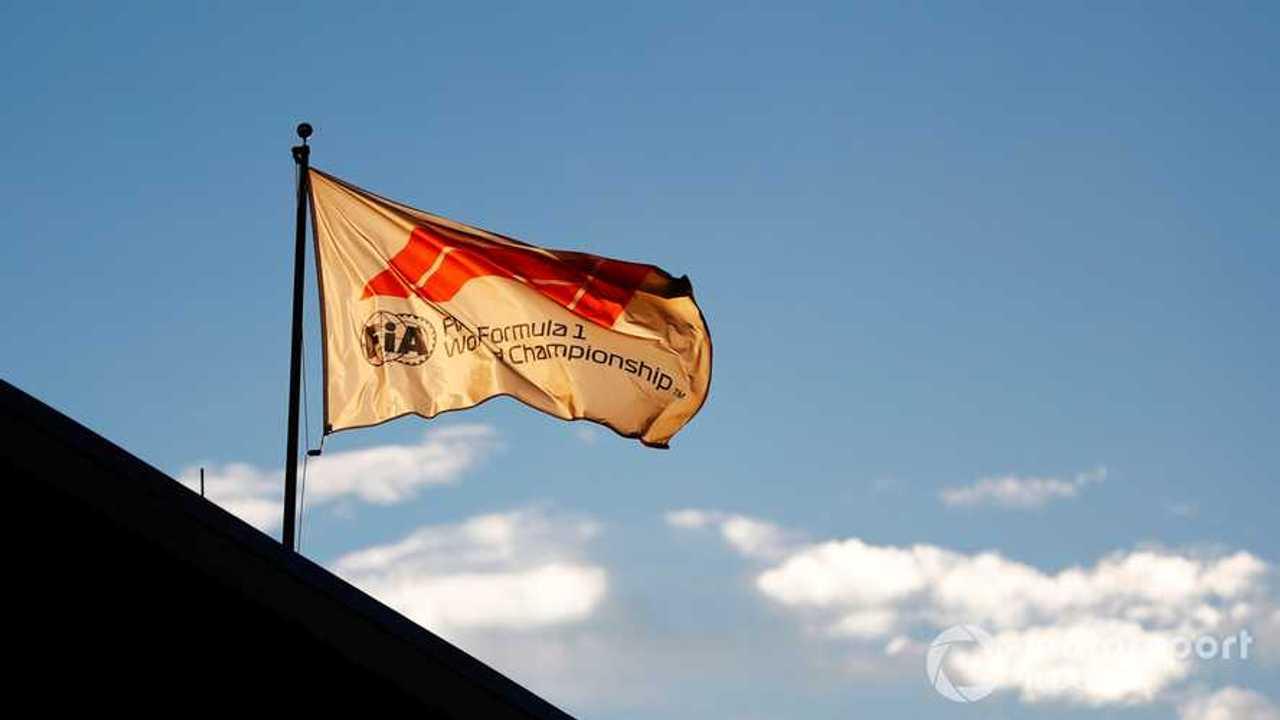 F1 flag at US GP 2018