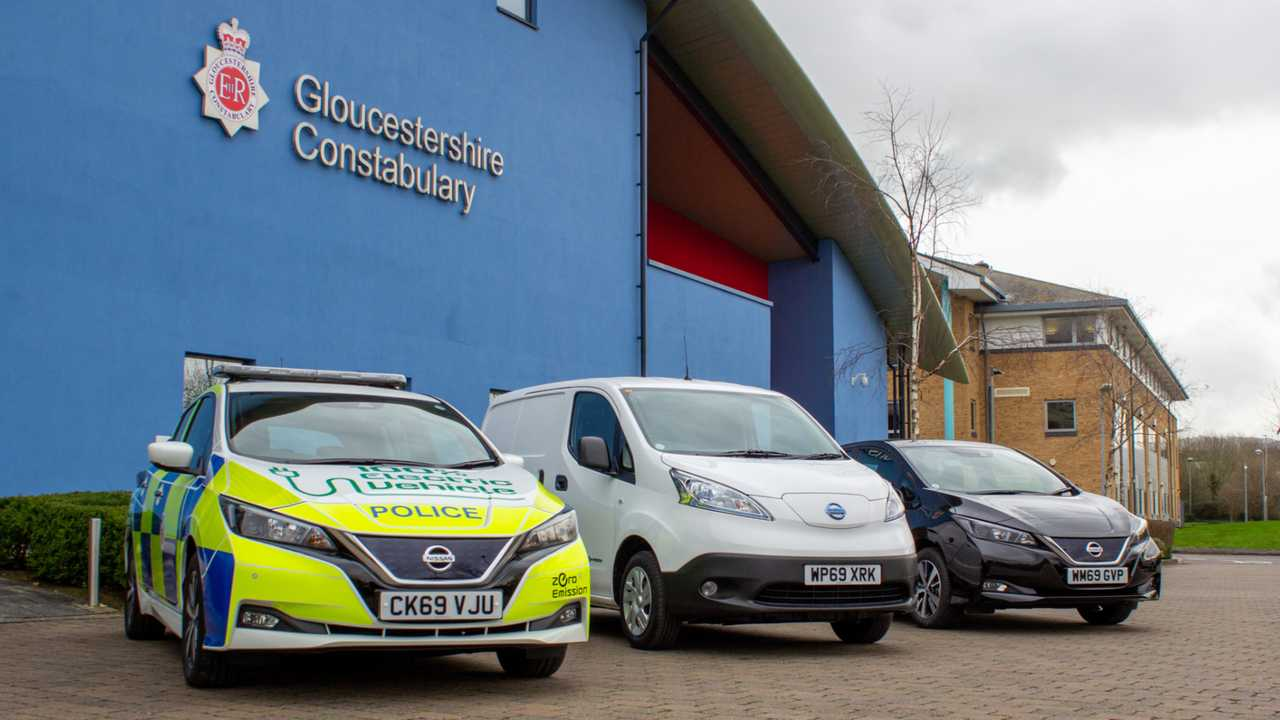 Gloucestershire police electric vehicles