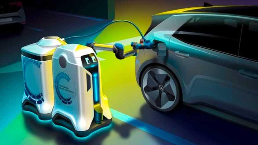 Volkswagen, un robot per ricaricare le auto elettriche