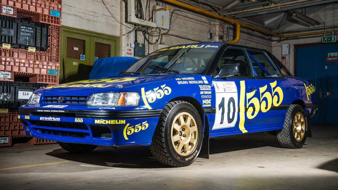For sale! WRC Subaru Legacy driven by Vatanen and Burns