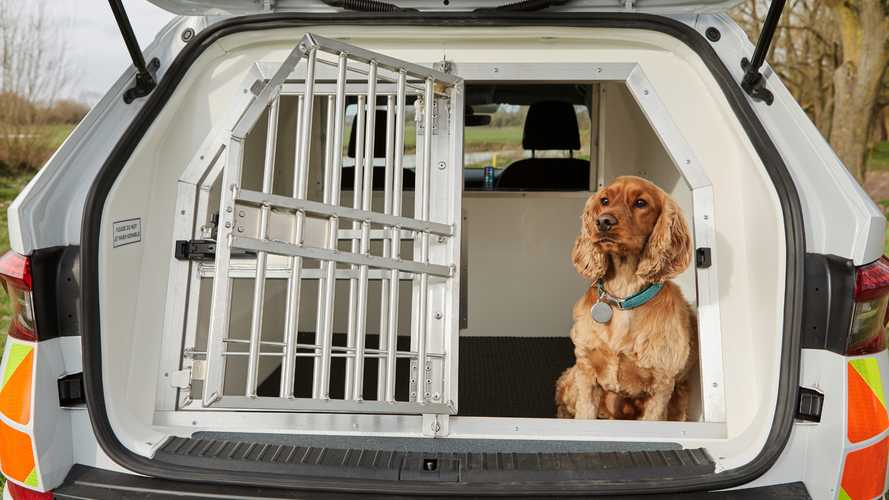 Skoda Kodiaq для перевозки полицейских собак