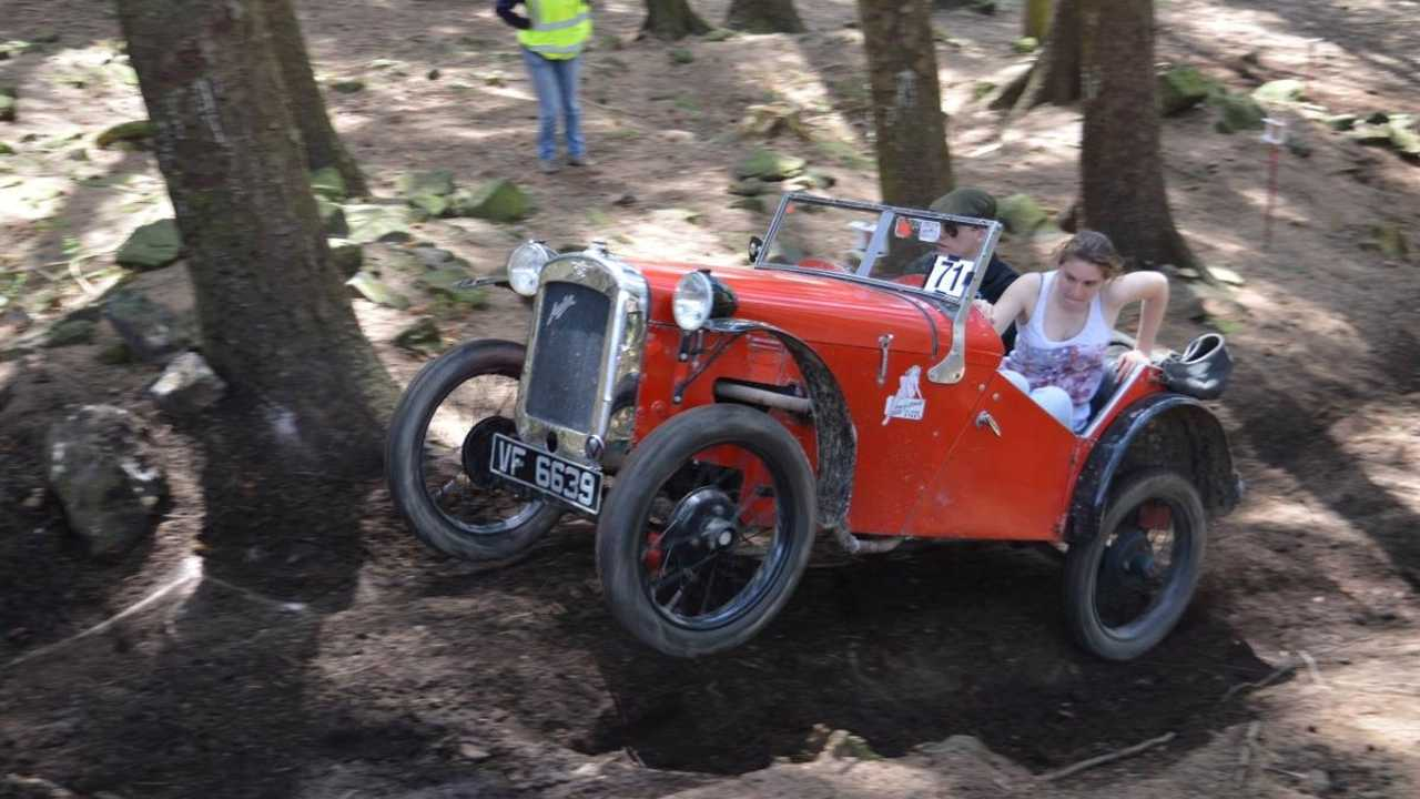 Trialling in an Austin Seven