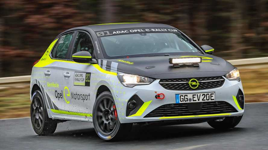 Opel Tests Corsa-e Rally At Dudenhofen Test Center: Video