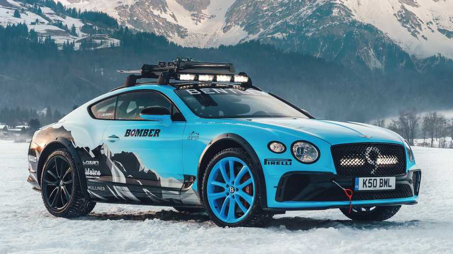 This Bentley Continental GT was built for ice racing