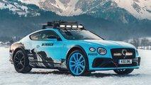La Bentley Continental GT per la gara sul ghiaccio