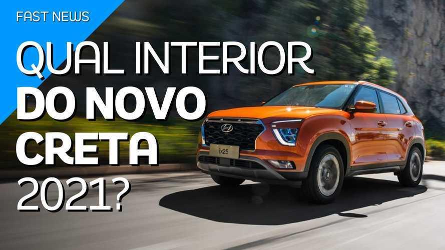 Vídeo: Qual é o melhor interior para o novo Hyundai Creta 2021?