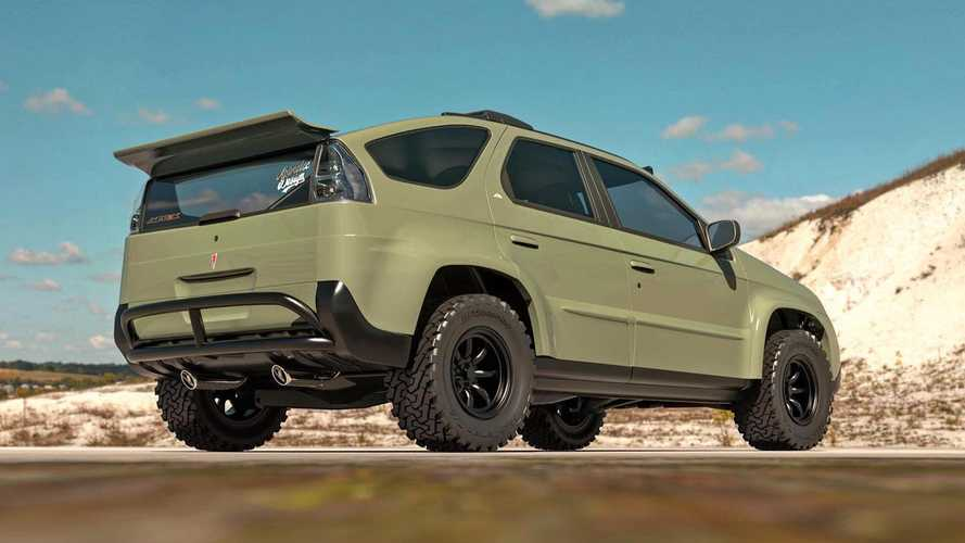 Pontiac Aztek Off-Road Rendering