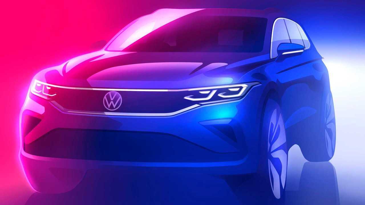 Рестайлинг VW Tiguan: первый тизер