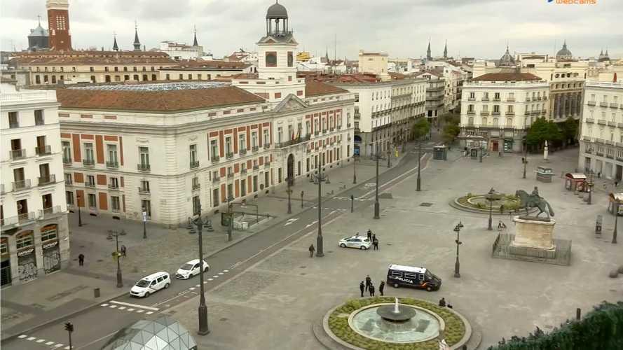 Calles y carreteras vacías de Madrid