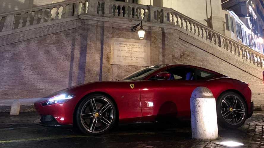 Ferrari Roma reklamının sahne arkası görüntüleri