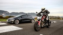 Tesla Model 3 Performance VS Zero Motorcycles SR/F