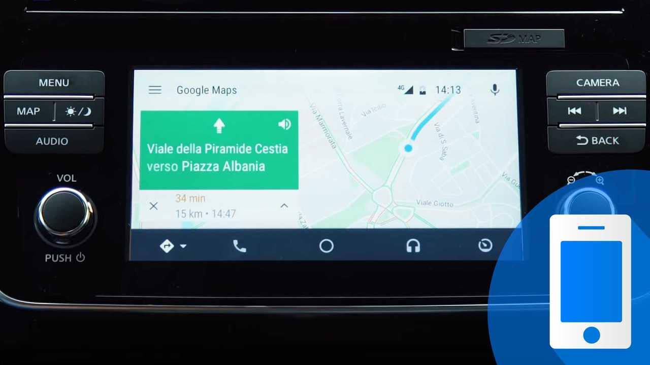 Google Maps in auto