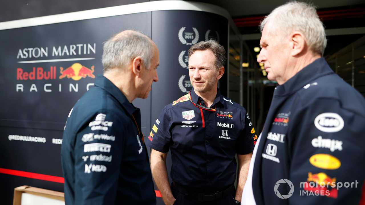 Franz Tost, Christian Horner and Helmut Marko at Australian GP 2020