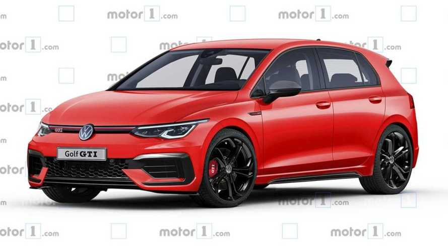 2021 VW Golf GTI rendered after spy photos
