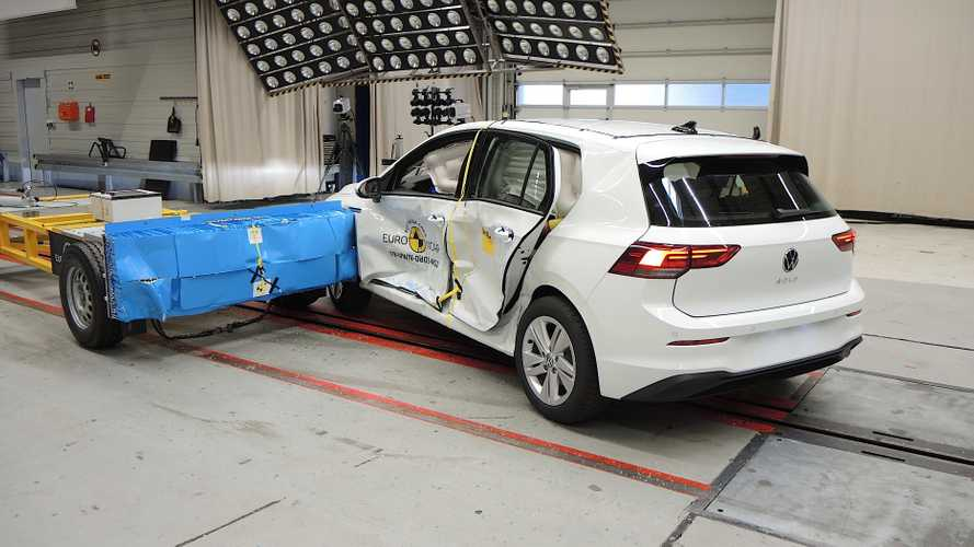 2020 VW Golf crash test by Euro NCAP