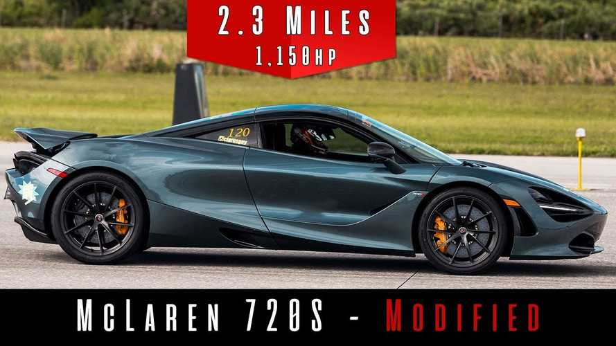 See 1,150-bhp McLaren 720S strive for 220 mph in top speed run