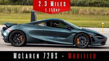 Modded McLaren 720S top speed run