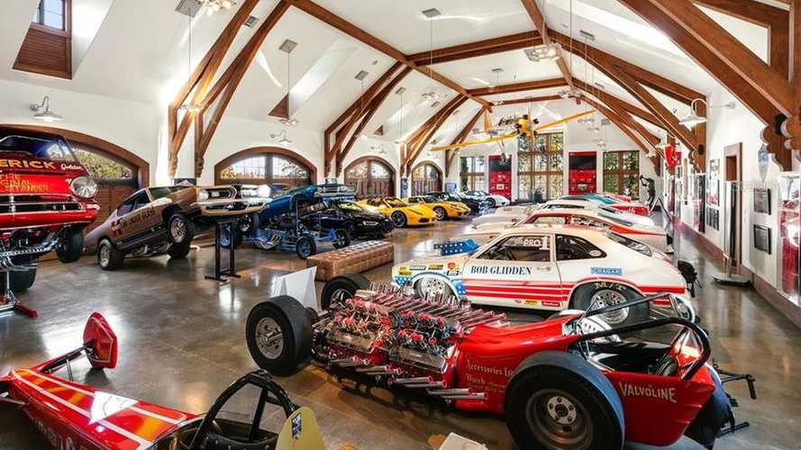 $17.5M FL Mansion Features Onsite Car Museum, Race Track
