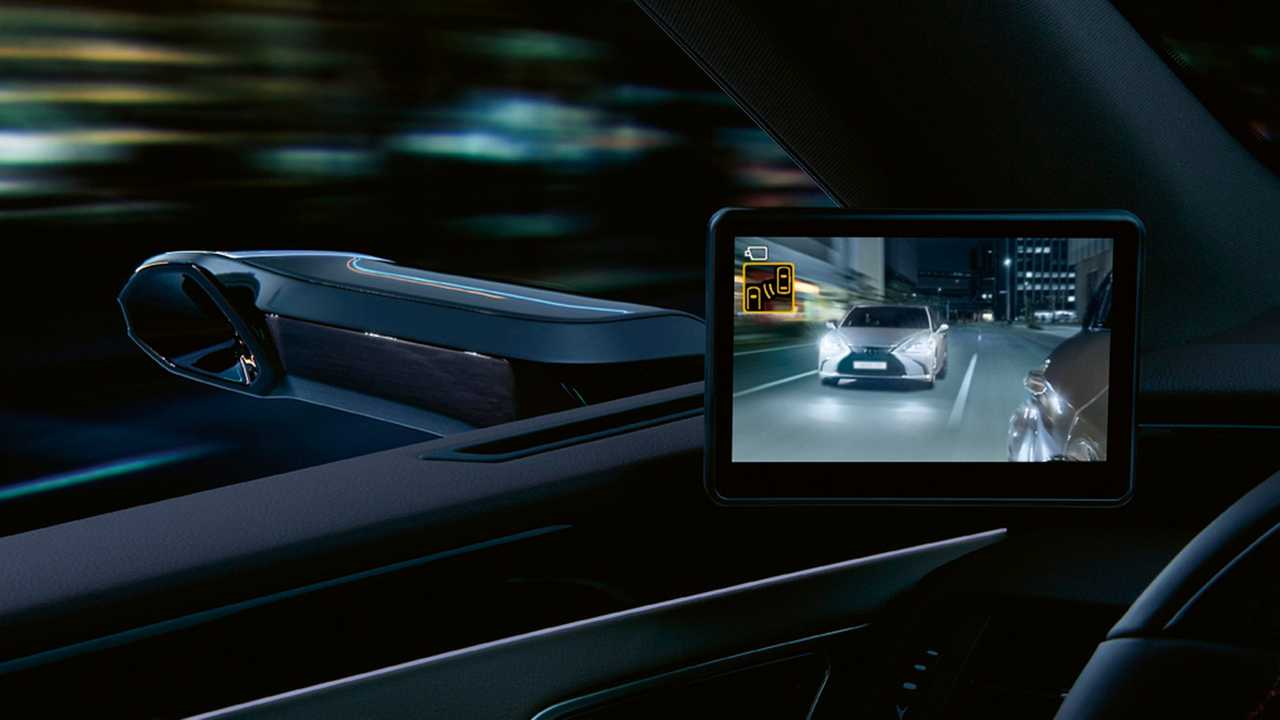 Lexus ES specchietti retrovisori digitali