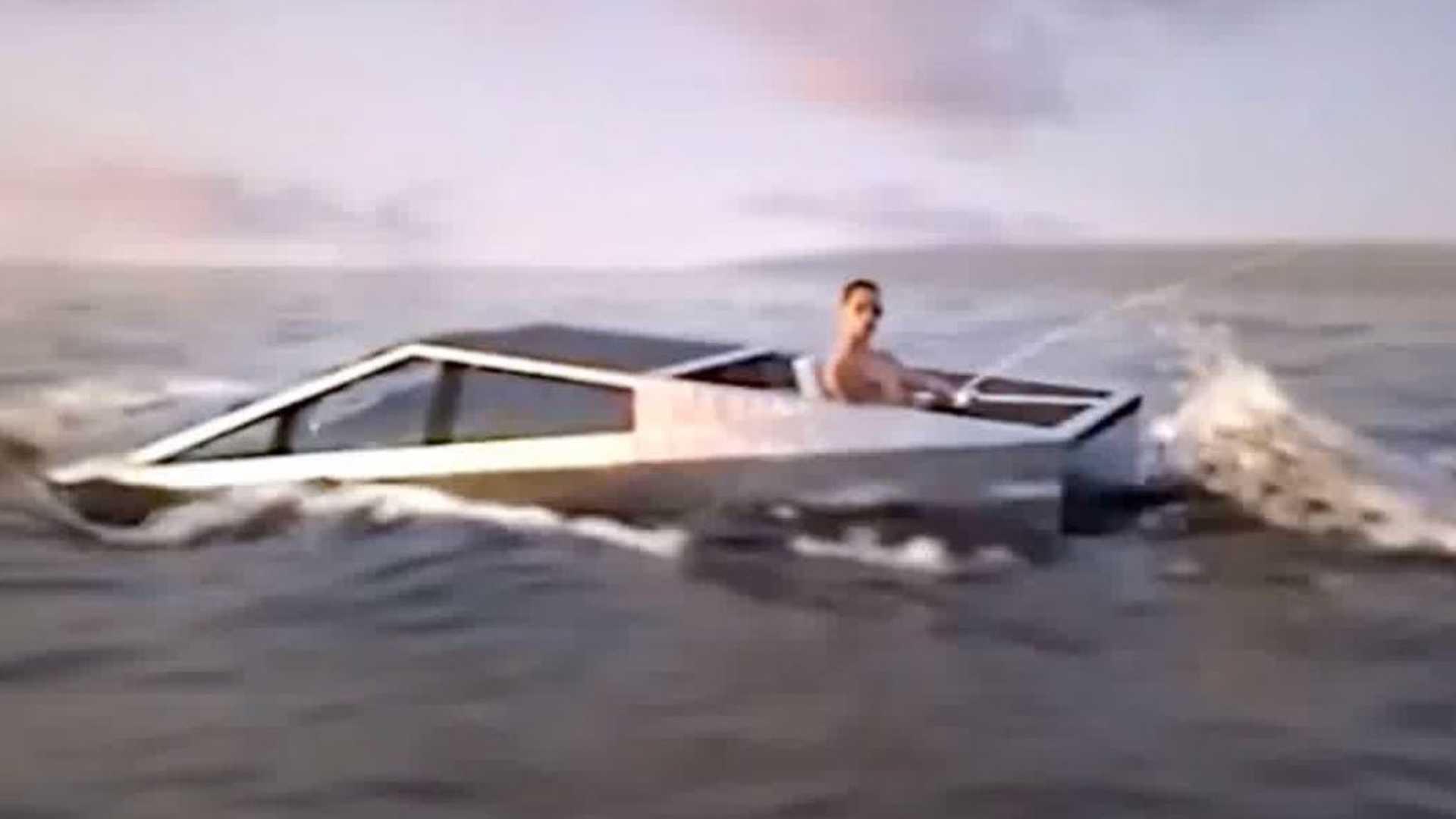 Watch Tesla Cybertruck Ride The Waves In Slick New Fishing Video