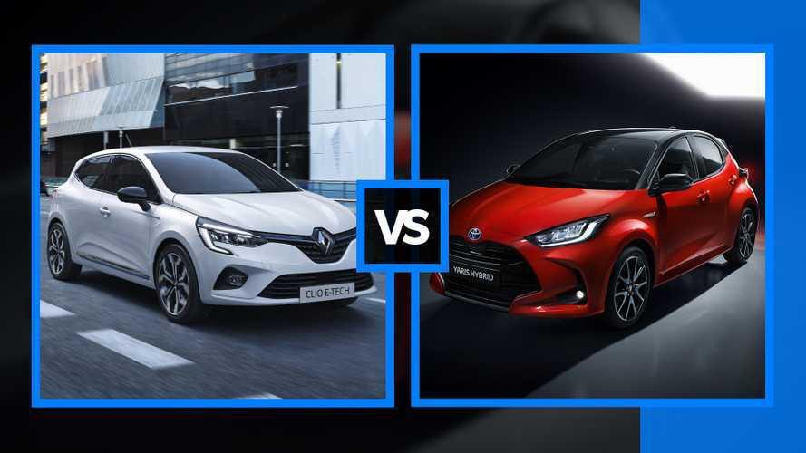 Renault Clio E-Tech vs Toyota Yaris Hybrid, il confronto tra compatte ibride