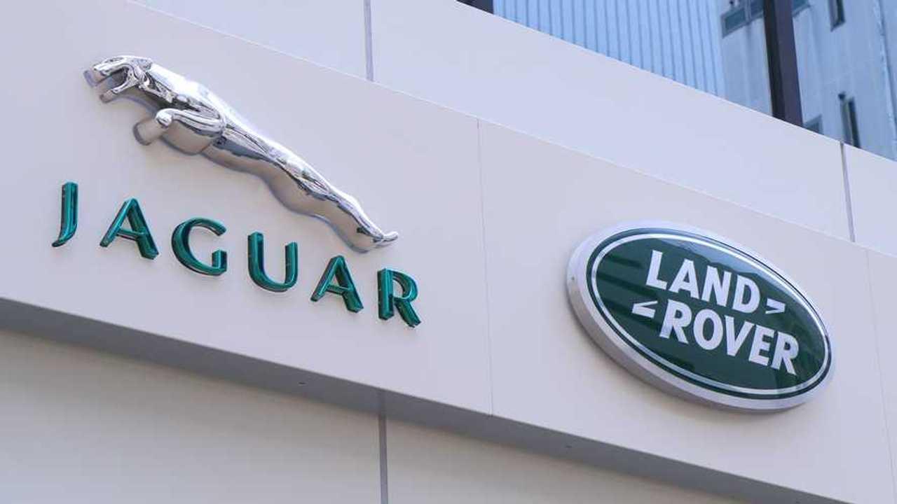 Jaguar Land Rover company logo sign in Kobe Japan