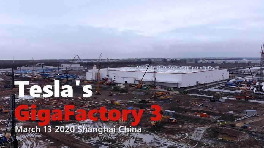 Tesla Gigafactory 3 Construction Progress March 13, 2020: Video