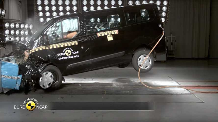 Ford Transit Custom PHEV alla prova dell'EuroNCAP: il video