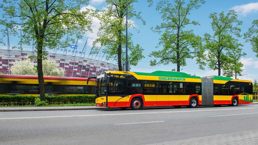 Solaris Delivered First Articulated EV Buses To Warsaw