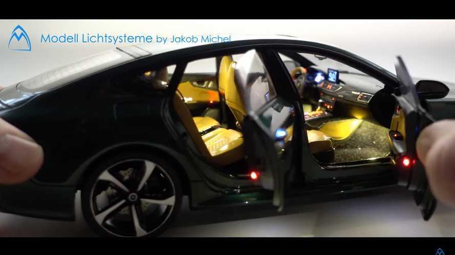 Audi RS 7 Sportback: en miniatura... pero detallado al máximo