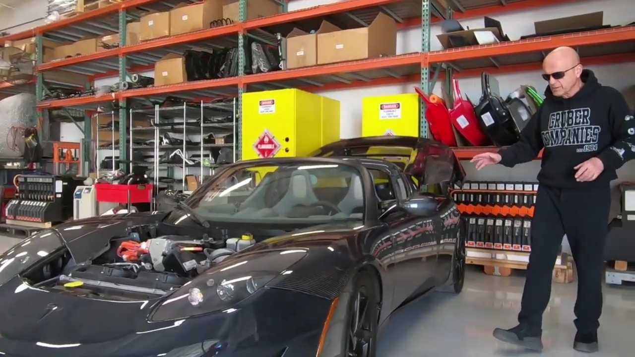 Check The Only Tesla Roadster With Exposed Carbon Fiber Ever Made