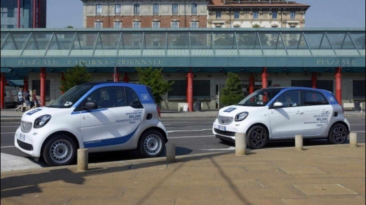 [Copertina] - Car sharing, car2go continua a crescere anche in Italia