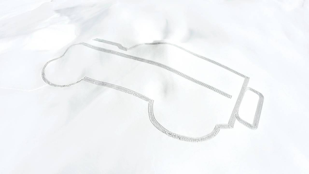 Land Rover snow art