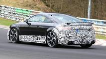 Audi TT RS facelift spy photo