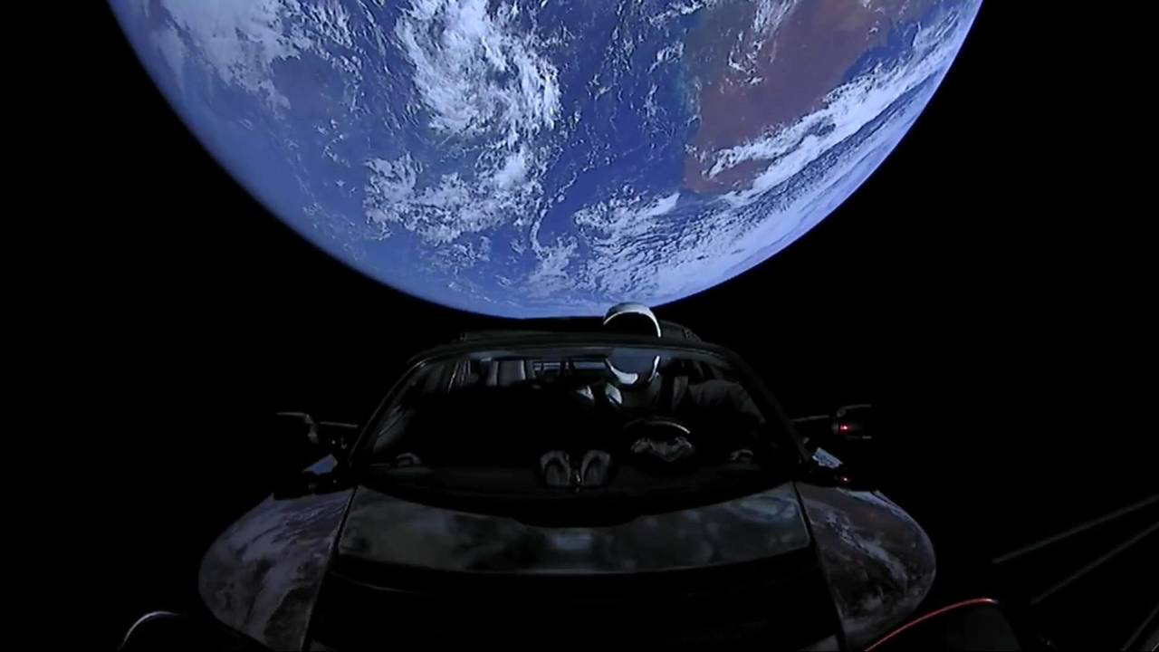 Tesla On Falcon Heavy