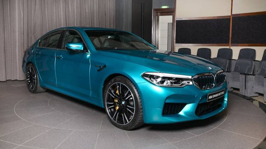 Beautiful BMW M5 In Snapper Rocks Blue Arrives At Abu Dhabi Dealer