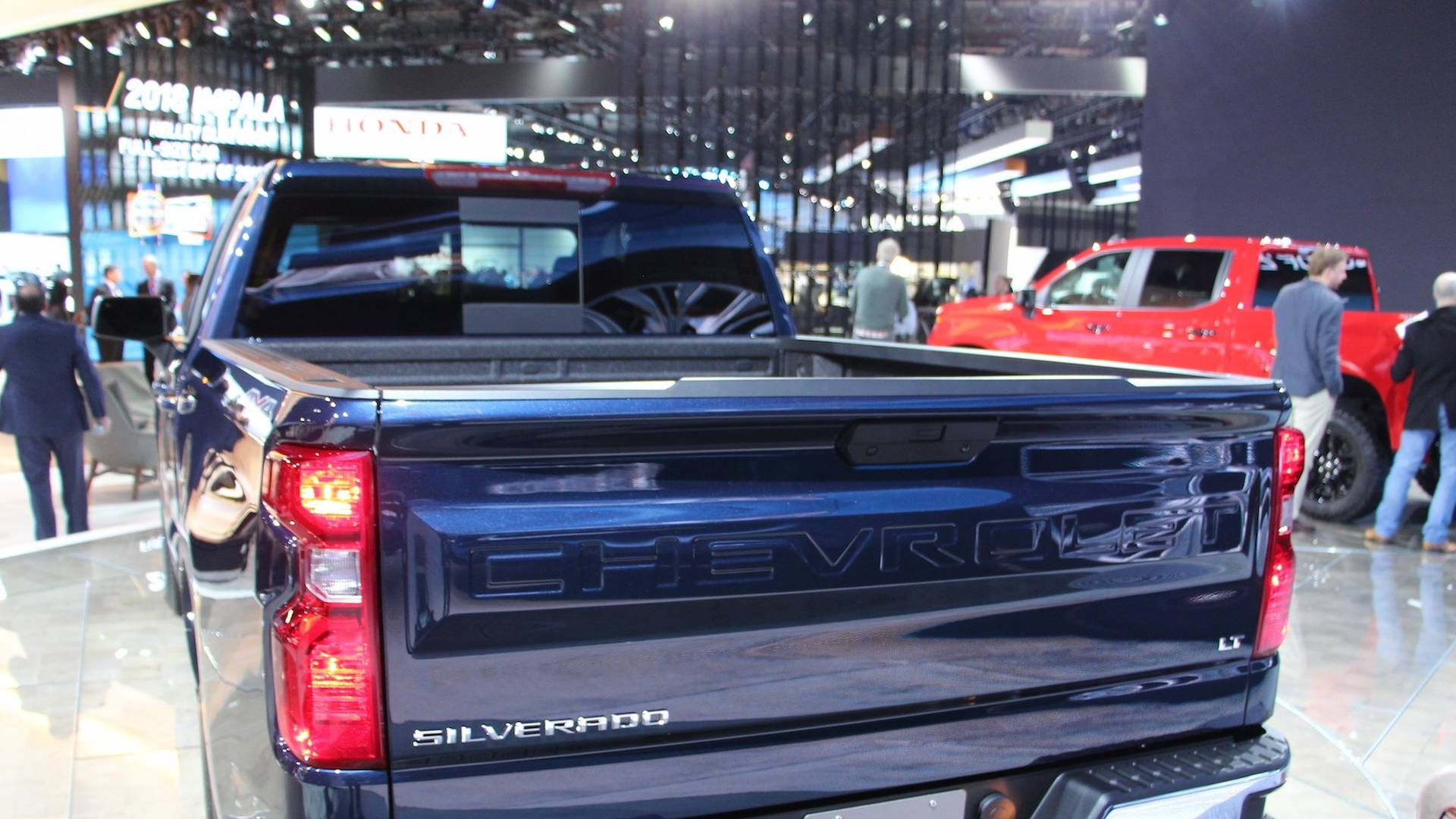 Surprise 2019 Chevy Silverado Available With 310 Hp Turbo Four Big Blue Jacked Up Truck