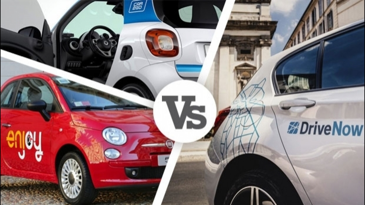 [Copertina] - Car sharing: DriveNow, Enjoy e car2go a confronto