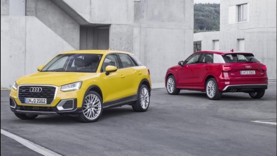 Audi Q2, col 1.0 TFSI costa 25.000 euro