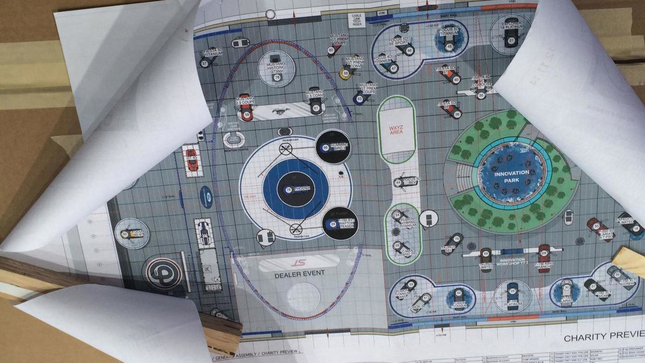 Ford NAIAS stage map
