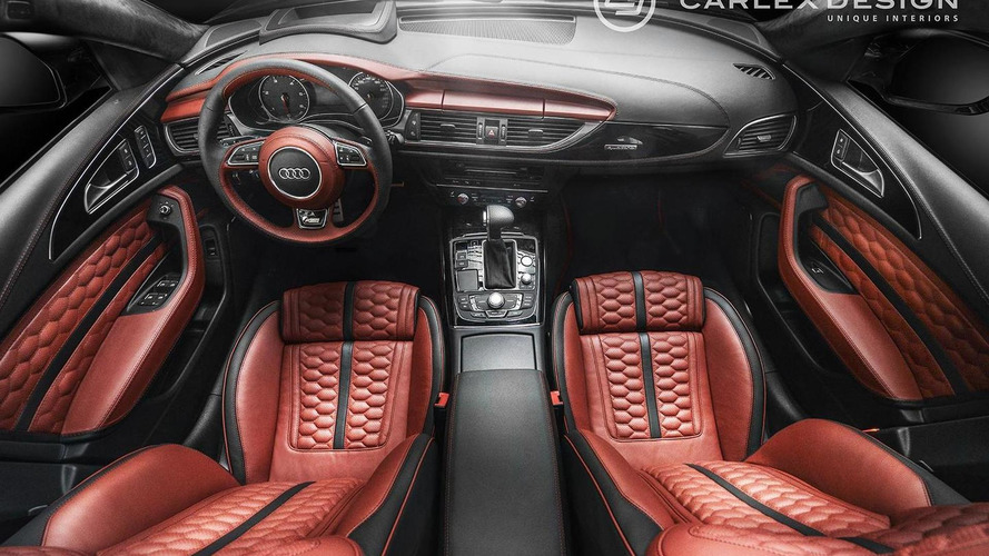 Audi A6 Avant interior gets honeycomb theme from Carlex Design