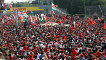 Fans invade the podium at the end of the race, 07.09.2014, Italian Grand Prix, Monza / XPB