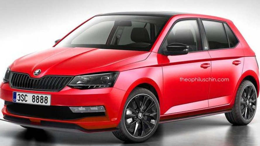 2015 Skoda Fabia Monte Carlo edition rendered