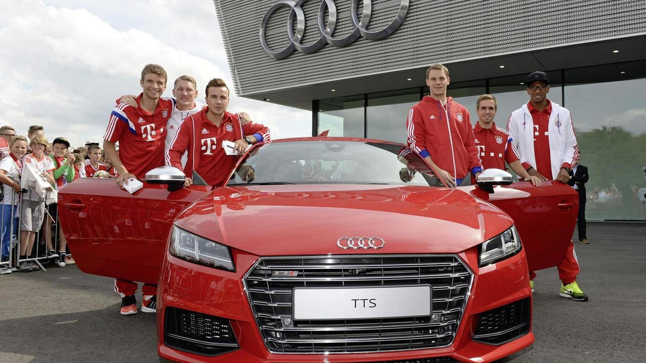 World Champions At The New Audi Tts From Left Thomas Muller