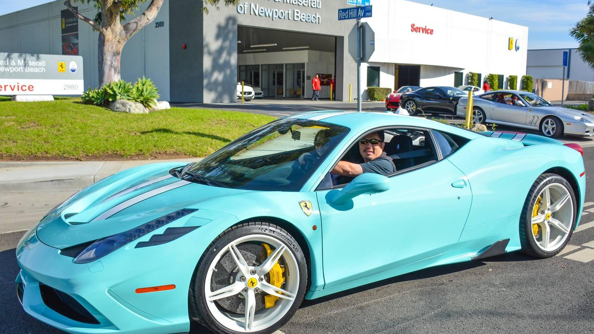Ferrari 458 Speciale With Tiffany Blue Paint 592248