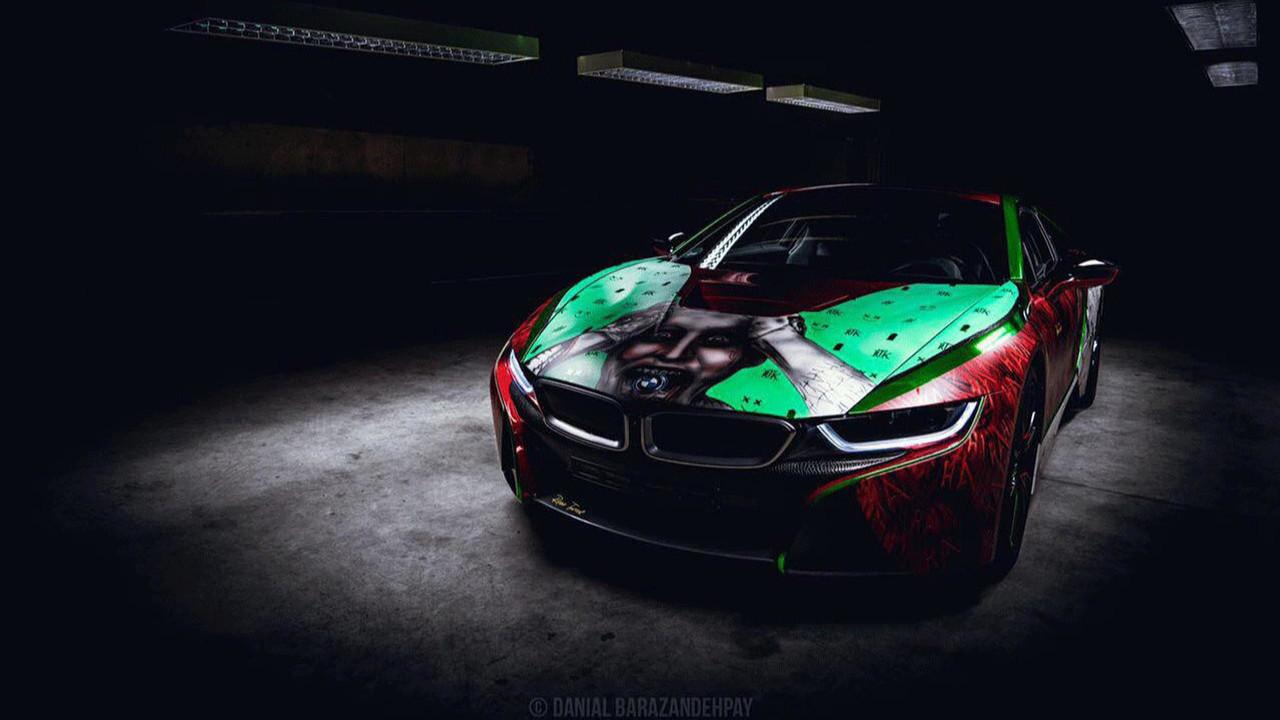 Joker dizájn és BMW i8