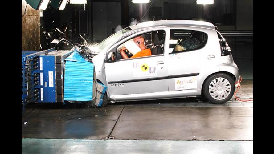EuroNCAP-Crashtest: Citroën C1, Opel Zafira und VW Passat
