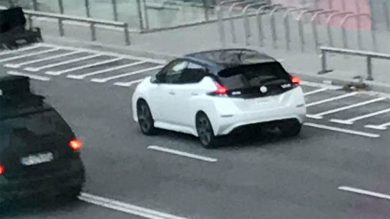 2018 Nissan Leaf without camouflage in Barcelona